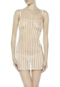 La Perla GRAPHIQUE Couture Chemise + Thong (0018957) Ivory Size 1/XS