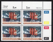 Bophuthatswana (South Africa): Industries; 14c as unmounted mint block of 4