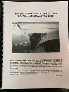 81-87 Regal GN GNX Power Antenna Removal Installation Reference Manual Guide