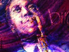 """FABULOUS LIT 3 DIMENSIONAL PAINTING OF JAZZ GREAT """"BIRD"""" CHARLIE PARKER"""