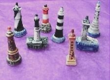 Light House Set, Porcelain Miniature, Embeds, Collectibles