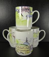 Studio Nova Promenade De Paris Set of 4 Mugs TPC46