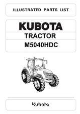 kubota l345dt tractor illustrated master parts list manual d
