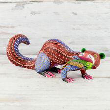 A1280 Nutria Alebrije Oaxacan Wood Carving Painting Handcrafted Folk Art Me