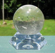 Quartz Sphere / Crystal Ball w Chlorite Inclusions
