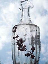 schöne,alte Karaffe __vergoldetes Dekor: Blumen, Motte..._Jugendstil_!