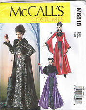 Evil Queen Coat Capelet Cape Dickey Goth Costume Sewing Pattern Size 4 6 8 10 12