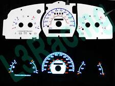 95-97 Ford Ranger w/o Tach Reverse Blue El Glow White Gauge