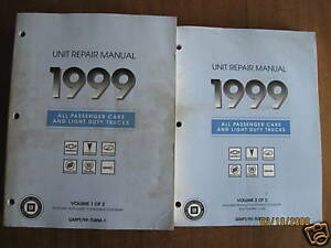 1999 GM Car Truck Unit Repair Service Manuals All Brand