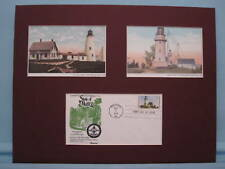 Maine Lighthouses - Two Lights and Wood Island Light House & First Day Cover
