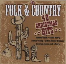 Folk & Country-40 Christmas Hits von Young,Clooney,Cash,AUTRY,Jones (2013), 2 CD
