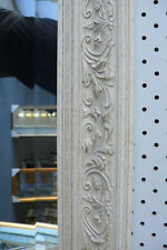 LARGE FRENCH PROVINCIAL SHABBY CHIC BEVELED WALL MIRROR 760X1380MM