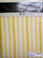 TWO SINGLE SIZE WINTERWARM FLANNELETTE FITTED SHEETS LEMON CANDY STRIPE DESIGN