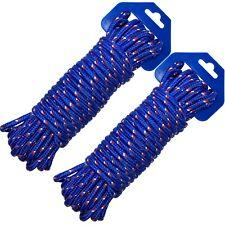 2x Seil Allzweckseil Polypropylen 20 Meter X 6 Mm Schnur blau orange