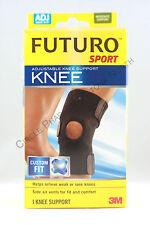 3m FUTURO Sport Adjustable Neoprene Knee Support Open Patella Design