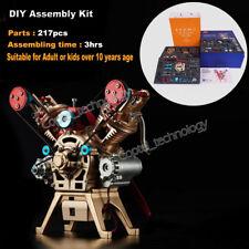 DIY Assembly Engine Kit V2 2-Cylinder Engine Motor Toy DIY Kit DOHC Engine Model