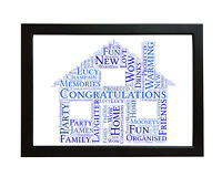 Personalised New Home Family House Word Art Gift House Warming Picture Frame