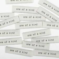 """ One of a Kind ""  Sew In Woven Tags - Clothing Labels pack of 8 by KATM"