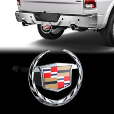"Cadillac Wreath Logo Hitch Cover For 2"" Trailer Tow Receiver -Official Licensed"