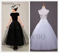 Long Petticoat Net Rockabilly Cosplay Underskirt Skirt Slips Tulle 3 Layers 8803
