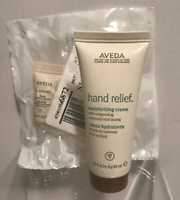 AVEDA HAND RELIEF MOISTURIZI CREME 1.4oz W/ROSEMARY MINT+3ML NIGHT RENEWAL SERUM
