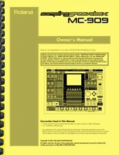Roland MC-909 Sequencer OWNER'S MANUAL