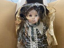 "Franklin Heirloom Doll Elise Coca Cola Porcelain Girl Braids 18"" W/Box"