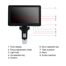 1200x 7 Lcd Screen Digital Electronic Microscope Safty Magnifier Camera 8 Led