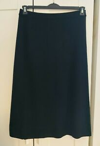 Ladies Marks and Spencer Wool Blend Long Black Midi Skirt A Line Winter UK Size