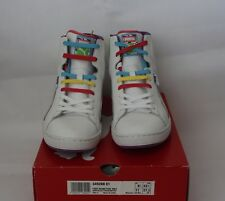 Puma Womens First Round Sneakers 11 White Multi Coloured