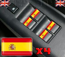 x4 Spanish Flag Dome Stickers Car Interior Spain Espana Colours Seat Ibiza Leon
