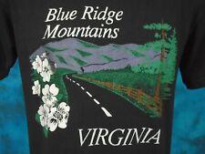 vintage 80s Blue Ridge Mountains Virginia T-Shirt Small/Medium biker soft thin