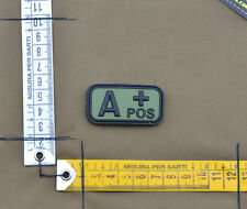 "PVC / Rubber Patch ""Small Blood Type A POS + OD"" with VELCRO® brand hook"