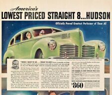 1940 Hudson Automobile Vintage Print Ad Americas Lowest Price Straight 8 Hudson
