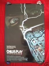 CHILD'S PLAY * 1988 ORIGINAL MOVIE POSTER 1SH CHUCKY GOOD GUYS DOLL HALLOWEEN NM