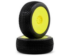 AKA Racing 14006MRY ENDURO Medium 1:8 Buggy Evo Wheel Pre Mounted Yellow Tires