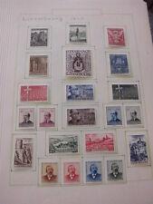 Sammlung, Luxemburg, 1945-1959 komplett, ungebraucht + Extras (269)
