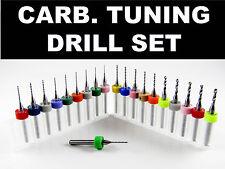20 Piece Carburetor Tuning Drill Bit Set   Holley Rochester Carter Mikuni Walbro