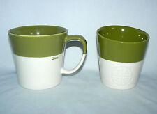 STARBUCKS COFFEE PAIR SET OF 2 TEA COCOA MUGS TAZO NEW BONE CHINA PORCELAIN CUP
