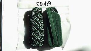 sd198 Schulterstücke Schützen Major silbern auf grün 1 Paar