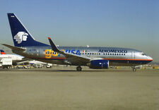 FLYING PHOTOS POSTCARD - BOEING 737 - XA-HAM OF AEROMEXICO AT LOS ANGELES 2013