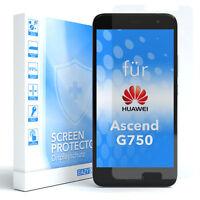 1x SCHUTZGLAS PANZER DISPLAYFOLIE ECHT GLAS 9H FÜR Huawei Ascend G750