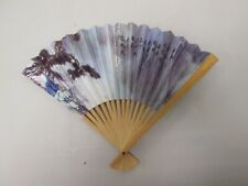 "Small 10"" Personal Oriental Fan Paper and Bamboo"