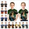 3D Print Dinosaur Kids T Shirt Children Boys Girls short sleeves T Shirt Tops