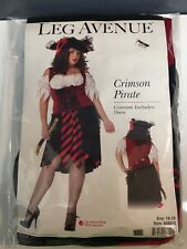 LEG AVENUE CRIMSON PIRATE WOMEN HALLOWEEN COSTUME 1X/2X