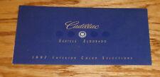 Original 1997 Cadillac Eldorado & Seville Interior Color Selections Brochure 97