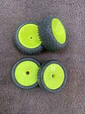 Team Associated RC10 Vintage Yellow Wheels + Schumacher Tyres