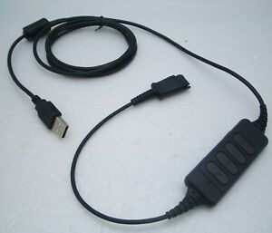 DA300-QD USB Adapter Cable for Plantronics H & HW-series Headsets to Computers
