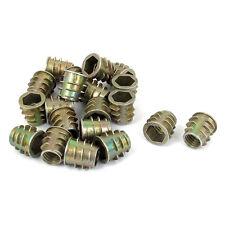 M8x13mm Hex Socket Screw in Thread Insert Nut 20 Pcs for Wood A4Z4