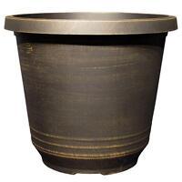 14 in. Bronze Plastic Planter Garden Balcony Flower Pot Outdoor Yard Patio Decor